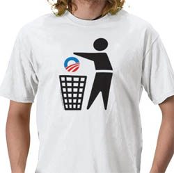 Dispose of Obama (simple icon) - shirt
