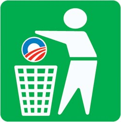 dispose properly - sticker