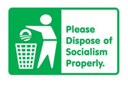 Please dispose of socialism Properly - sticker 2