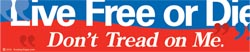 Live Free/Don't Tread - sticker